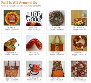 Artfire Collection Fall is All Around Us - onfireforhandmade.com