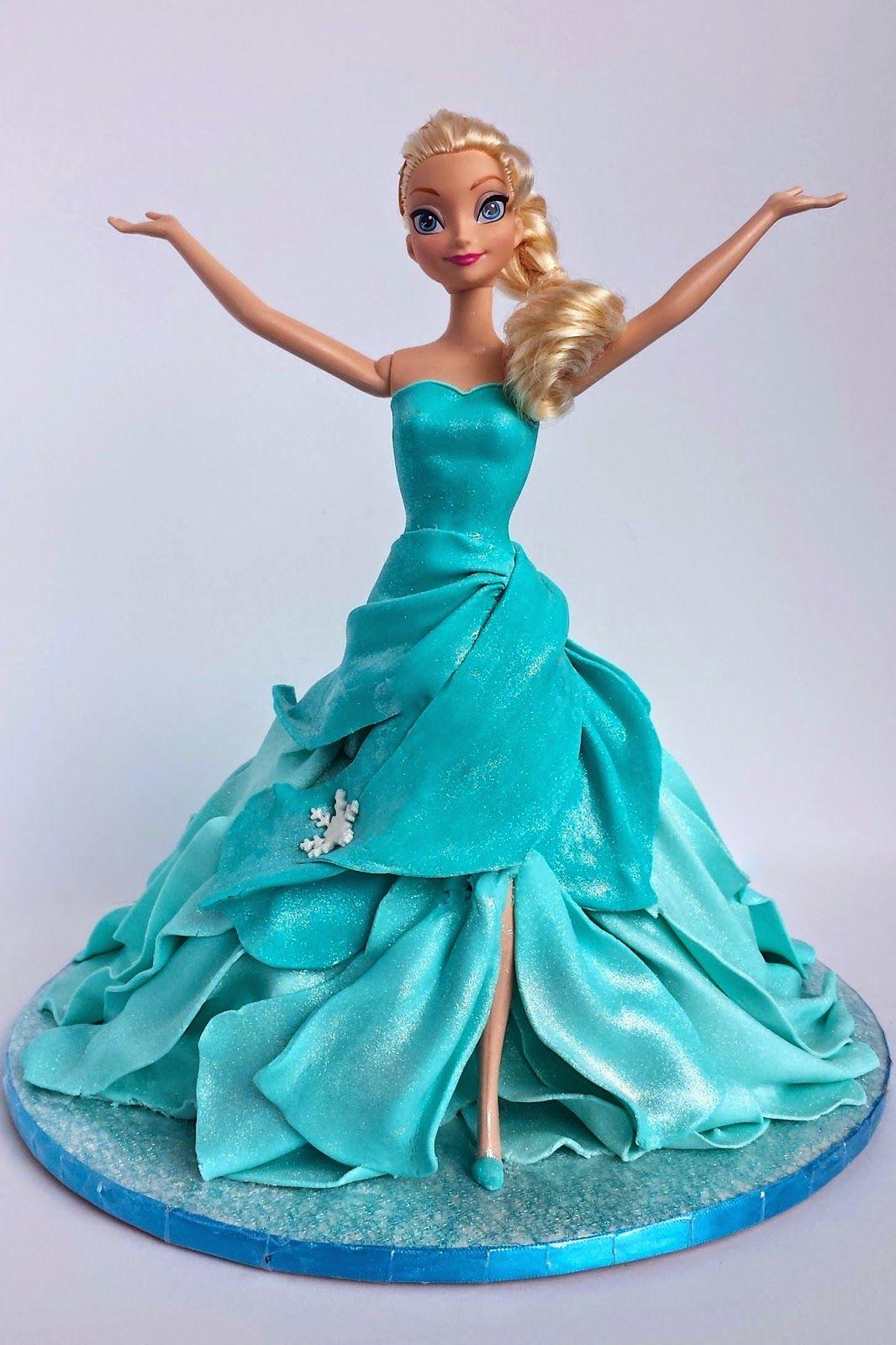 un gteau elsa en tuto cake blog elsa doll cake tutorial gteau barbie reine des neigesgteau - Barbie Reine Des Neiges