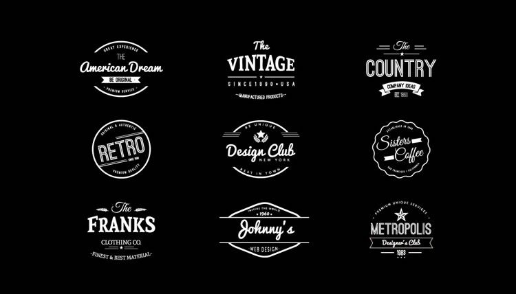 15 free vintage logo badge template collections silhouette ideas