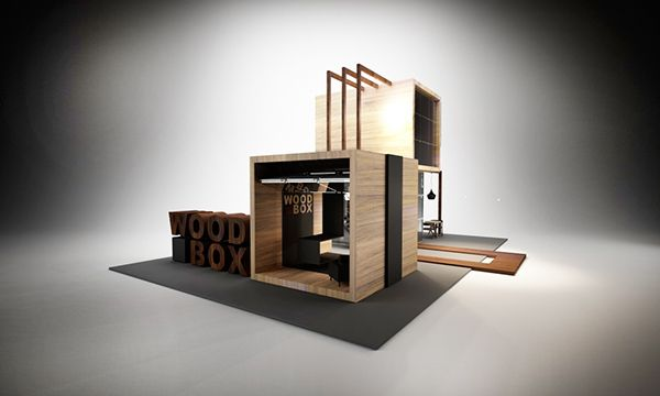 Expo Exhibition Stands For : Design of exhibition stand for quot wood box on behance