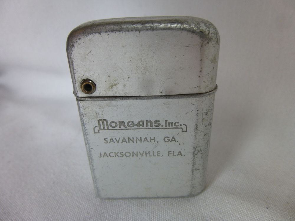 Storm Master Lighter Morgans Inc Savannah Ga Vintage Advertising