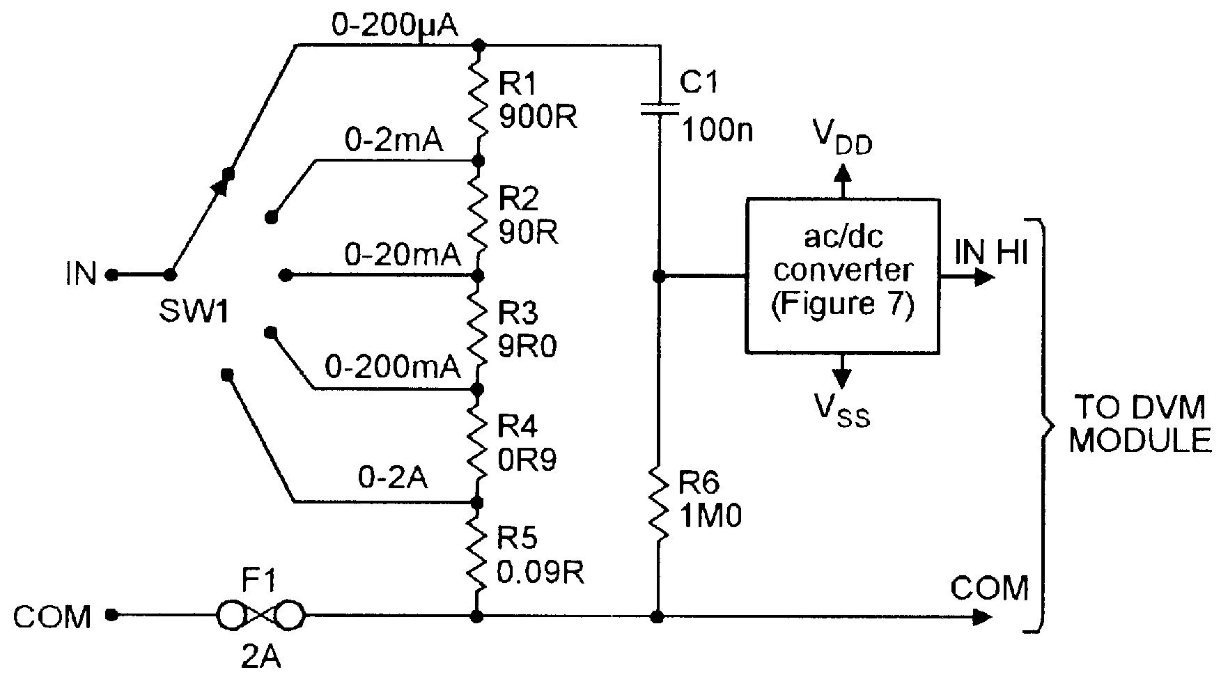 24v To 12v Converter Circuit Using Lm338 Five Range Ac Current Meter For Use With Dvm Modules