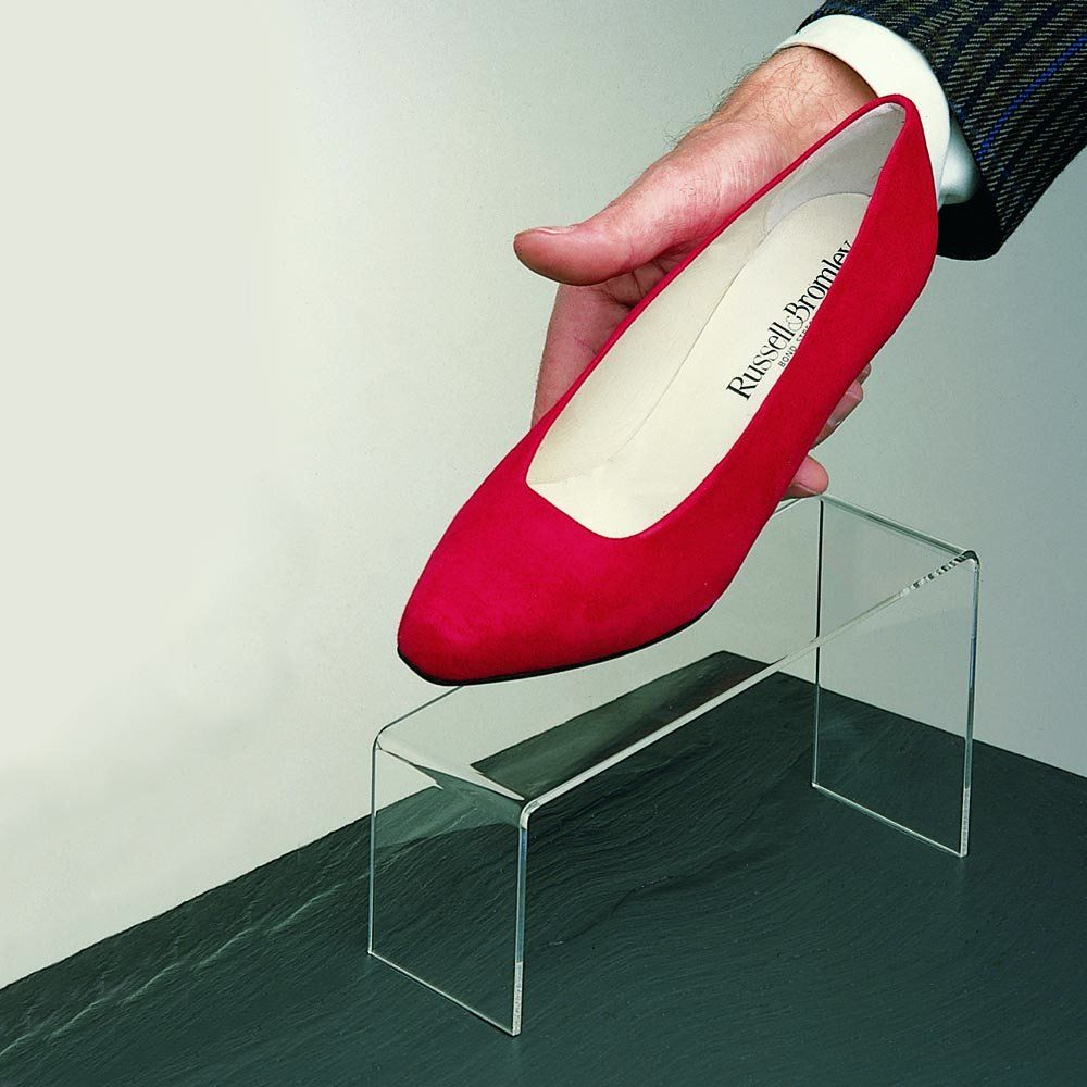 e8ea1cc617 11cm sloping shoe platform (acrylic shoe stand) | Acrylic / Perspex ...
