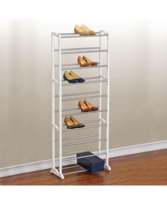 Lynk 30 Pair Shoe Shelf Organizer Reviews Cleaning Organization Home Macy S Shoe Rack White Shoe Rack Shoe Rack Closet
