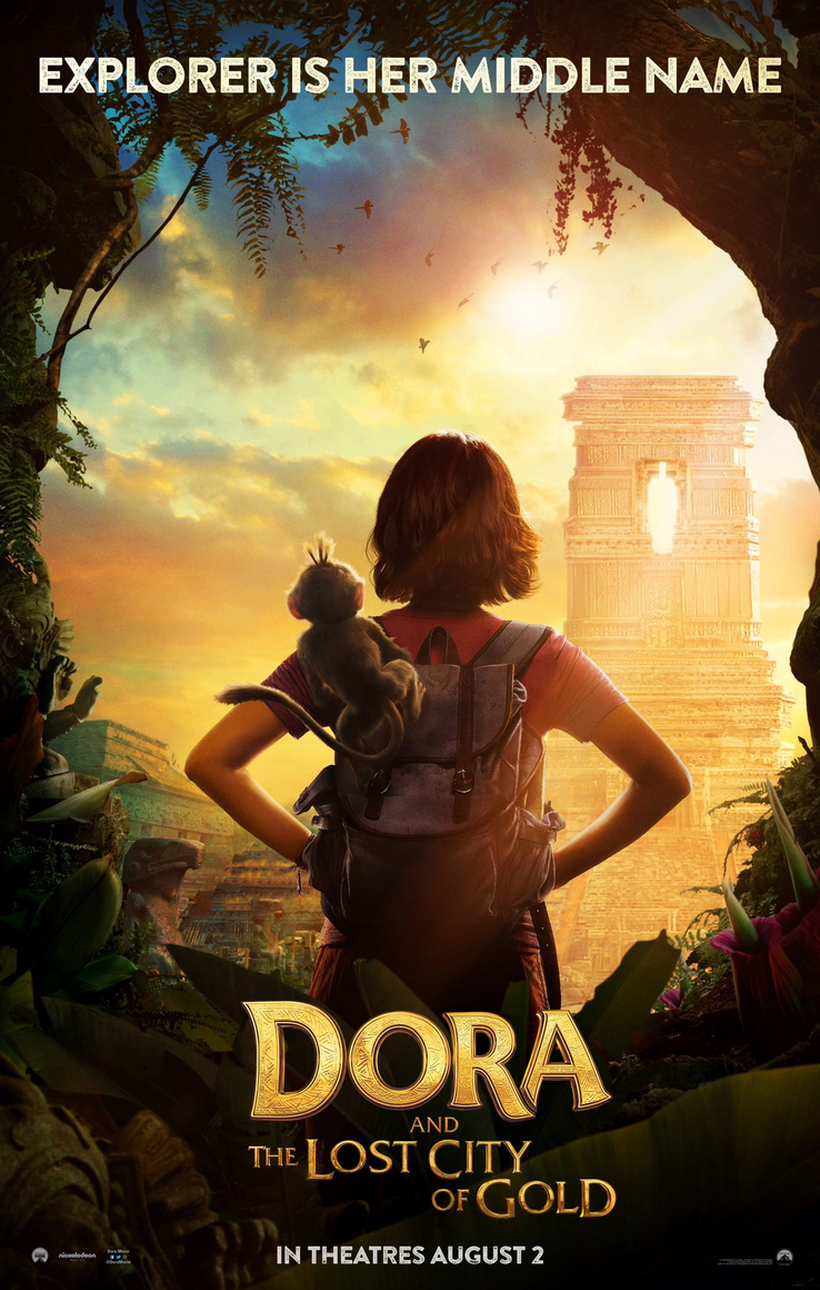 Isabela Moner Stars In Dora And The Lost City Of Gold Trailer Lost City Of Gold Gold Movie Action Movie Poster