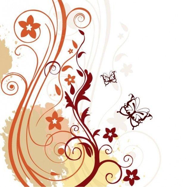 fondo floral abstracto Vector Gratis | vinilos | Pinterest | Fondos ...
