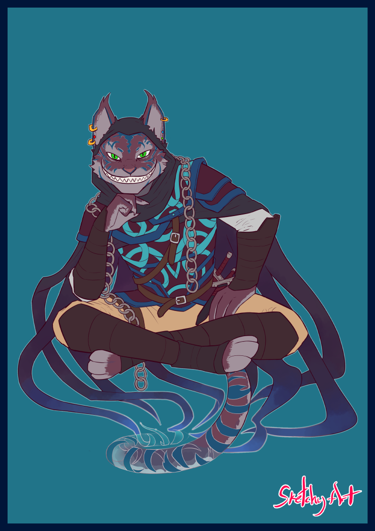 Art The Grinning Headhunter Chesire Tabaxi Arcane Trickster Cat Character Fantasy Character Design Character Design A subreddit dedicated to the various iterations of dungeons & dragons, from its first edition roots to its fifth. cat character