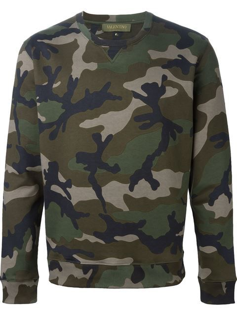 8592d1788 Shop Valentino 'Rockstud' camouflage sweatshirt in Julian Fashion from the  world's best independent boutiques at farfetch.com. Shop 300 boutiques at  one ...