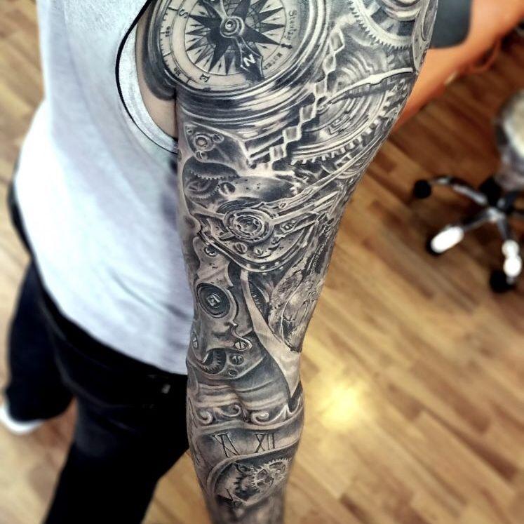 Biomechanical Tattoo Sleeve Biomechanical Tattoo Tattoos Tattoo Sleeve Men