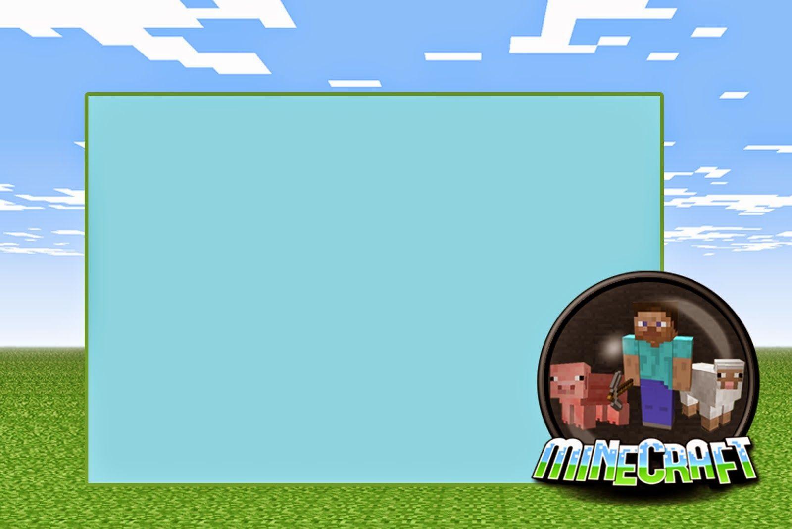 Minecraft Free Printable Invitations Tarjetas De