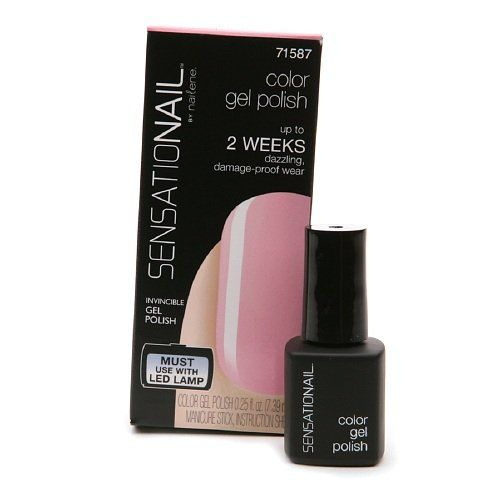 Sensationail Color Gel Polish Pink Chiffon 025 fl oz 739 ml * See this great product.Note:It is affiliate link to Amazon.
