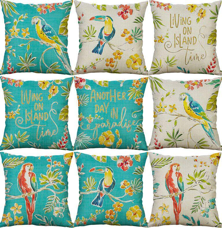 Clock Cotton Linen Fashion Throw Pillow Case Cushion Cover Home Sofa Decor