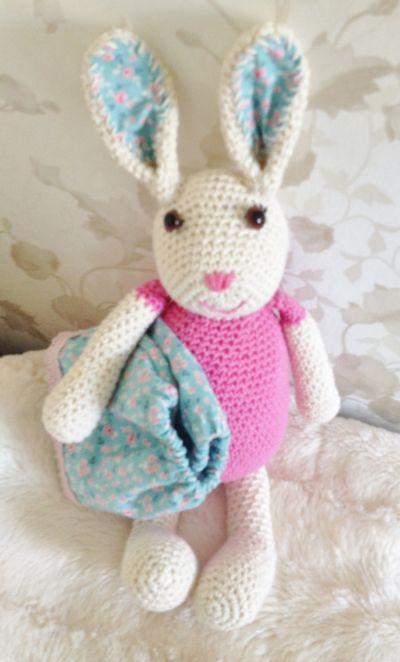 Hekle en søt kanin :) (ibelieveinangels)