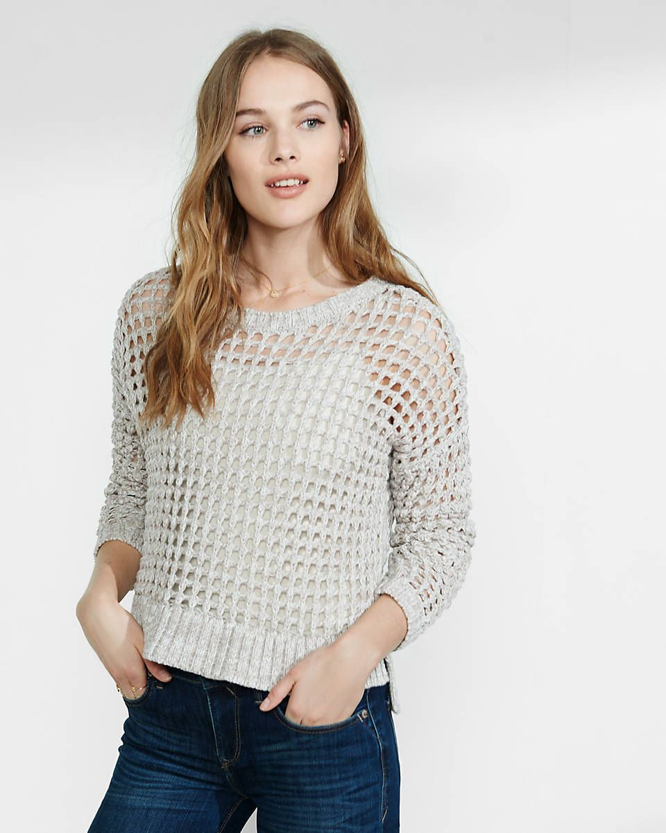 Marl open knit hi lo sweater express pinterest fall winter marl open knit hi lo sweater bankloansurffo Choice Image