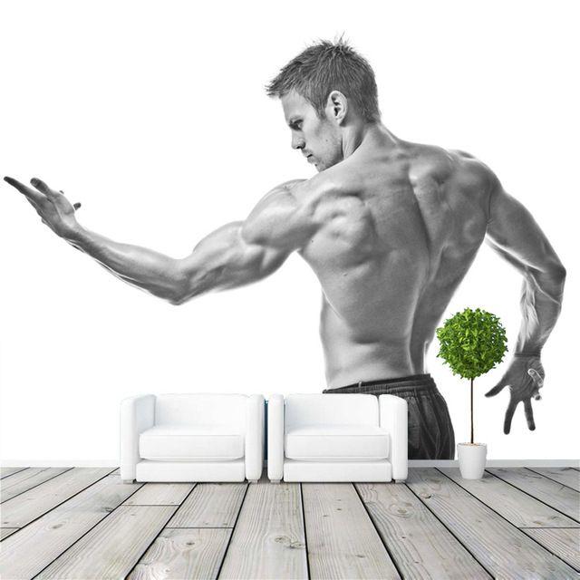 Best Fitness Man Photo Wallpaper Muscle Boy Bedroom 3D Mural 640 x 480