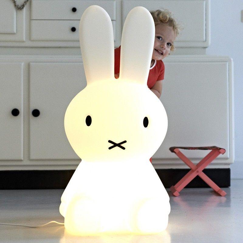 Mr Maria Extra Large White Miffy Lamp