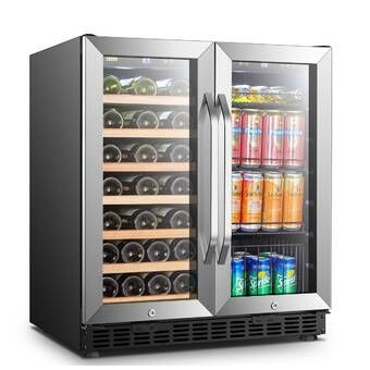 18 Bottle And 55 Can Dual Zone Freestanding Wine And Beverage Refrigerator Beverage Refrigerator Wine Coolers Drinks Beverage Fridge