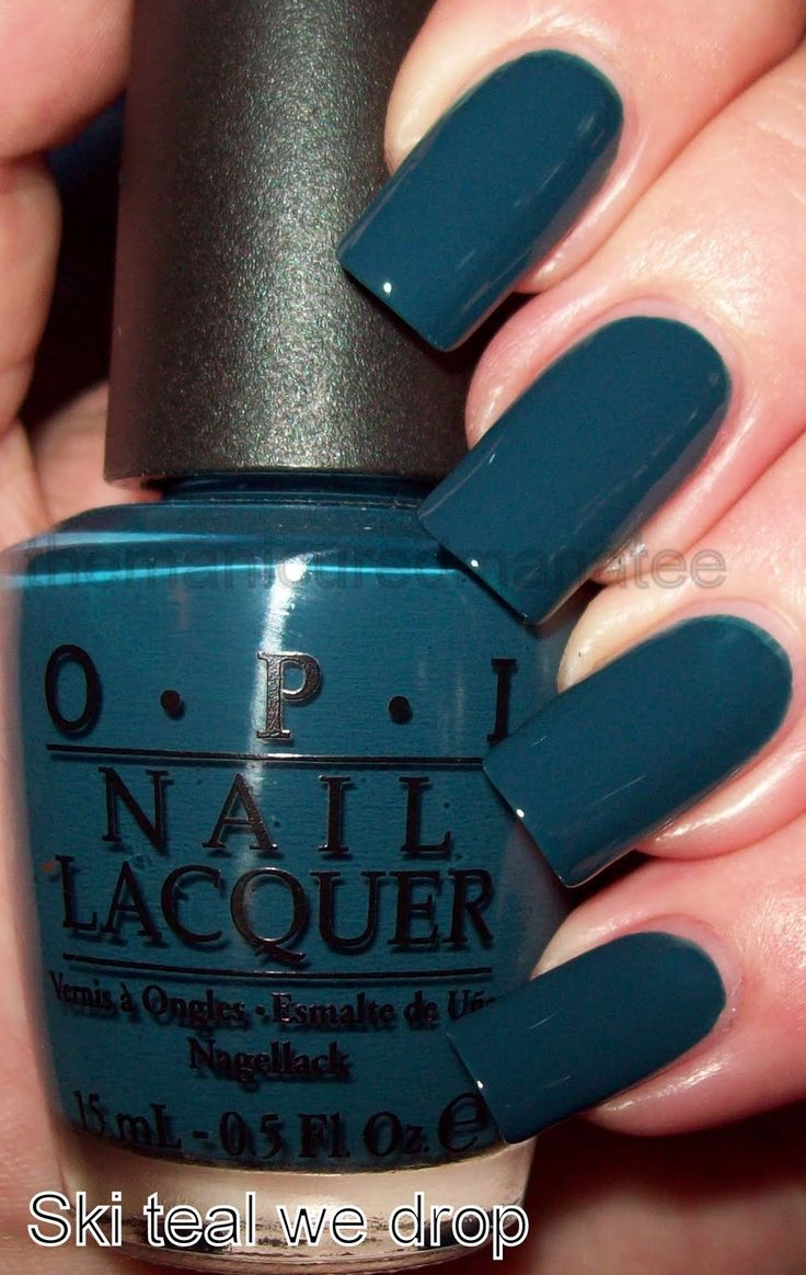 opi's ski teal we drop - must have nail color for fall 2012! will