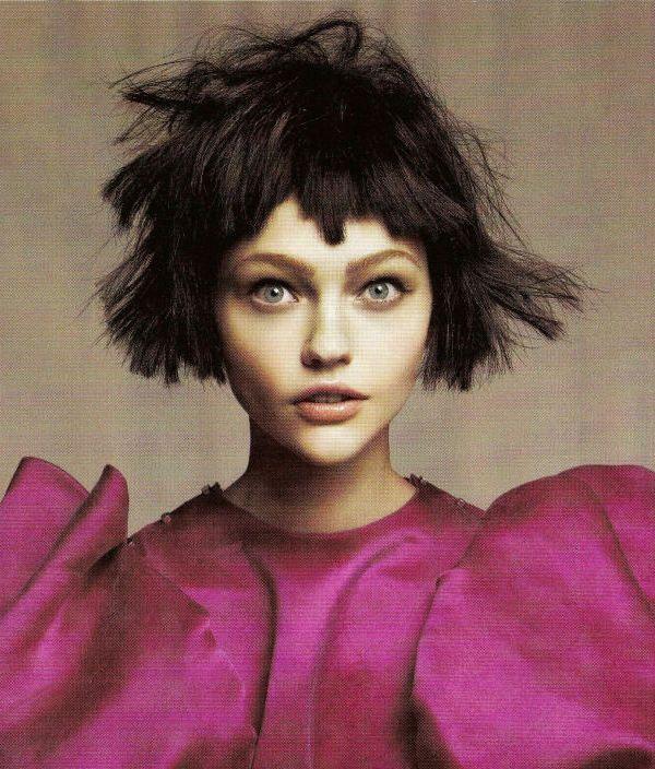 Sasha Pivovarova by David Sims for Vogue