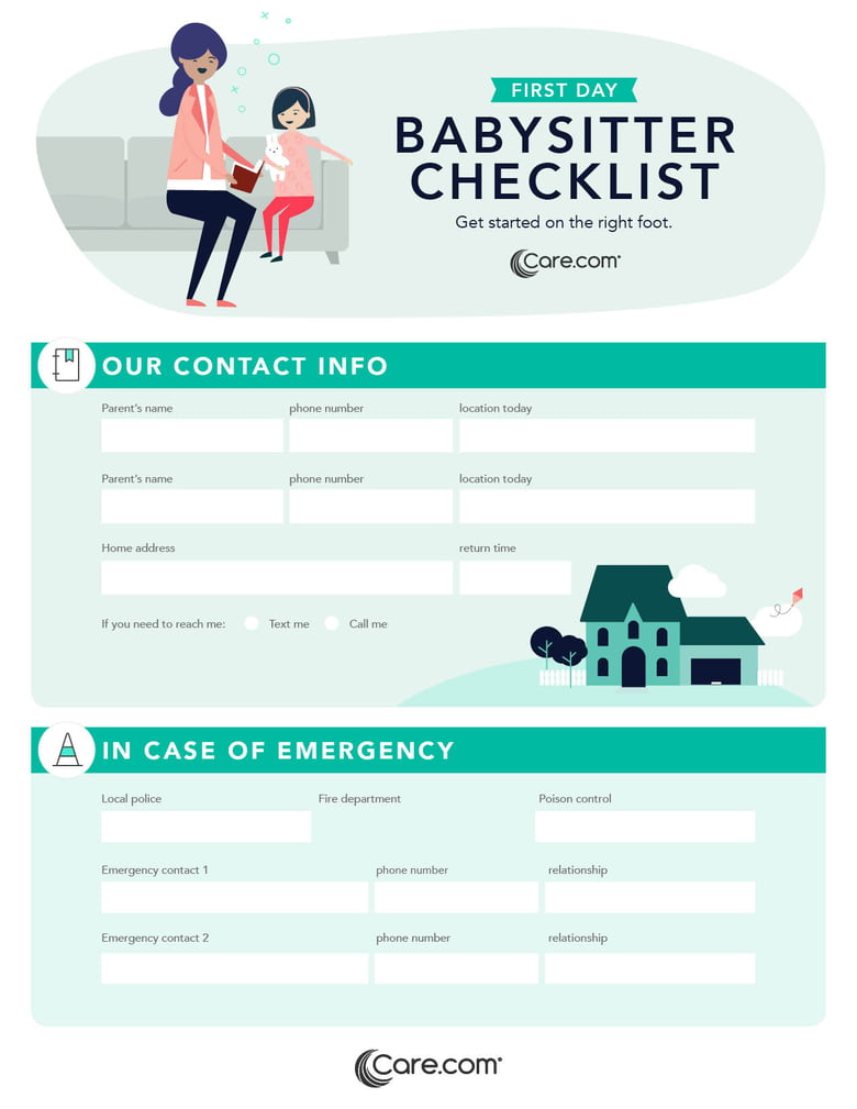 Emergency Checklist For Caregivers What Information To
