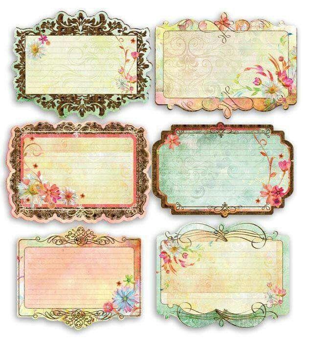 Etiquetas Vintage Printables Vintage Tags Journal Cards