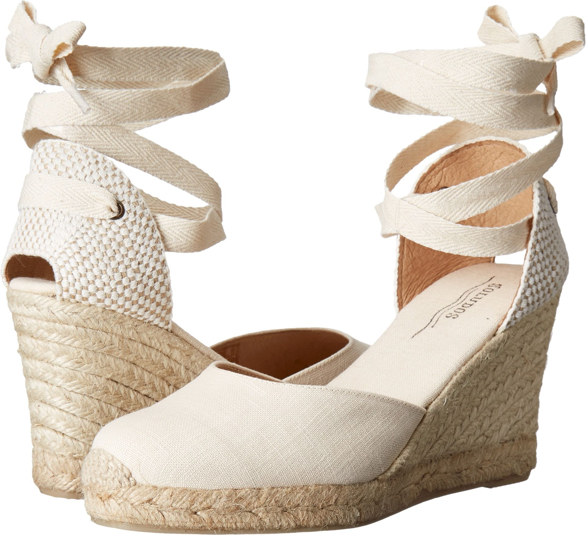 7d2aaf75575 Soludos Tall Wedge Linen Blush - Zappos.com Free Shipping BOTH Ways ...