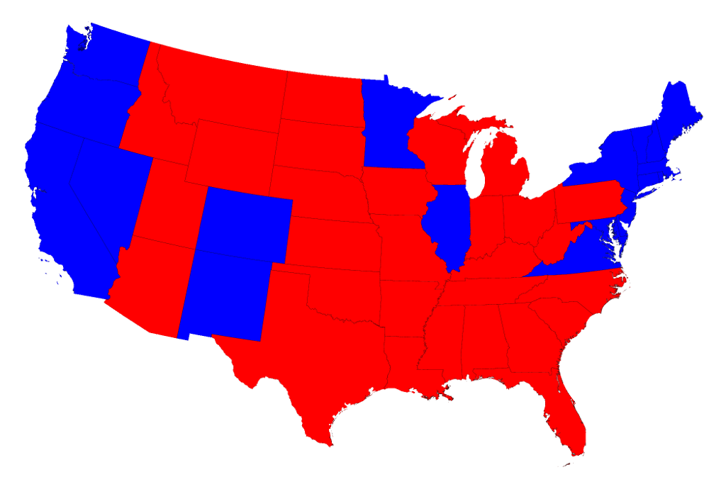 Heres What The US Electoral Map Looks Like Adjusted For - Population concentration us map electoral colleg