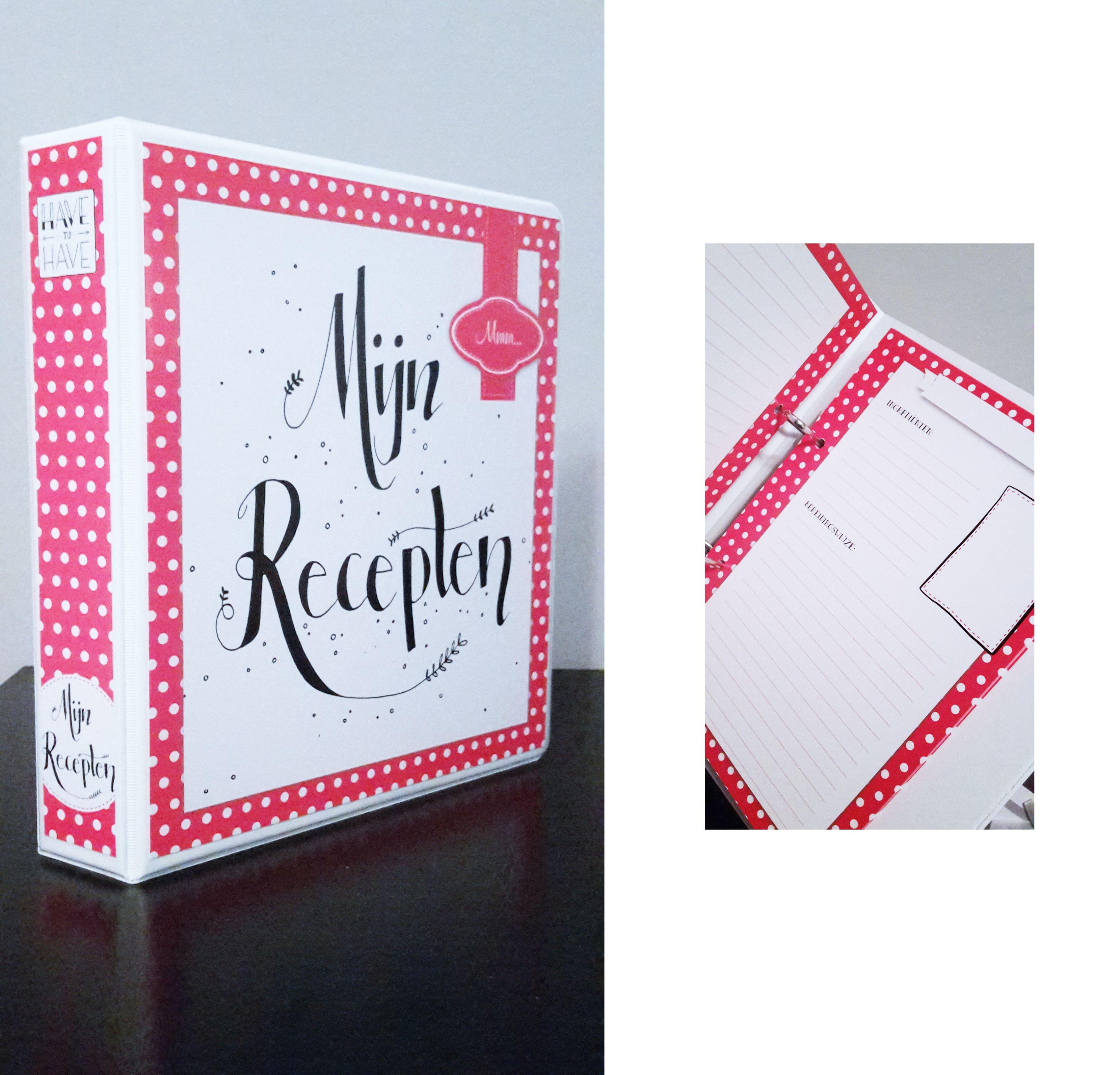 Mijn Receptenboek Rood Met Witte Stippen A5 Books To Have Books