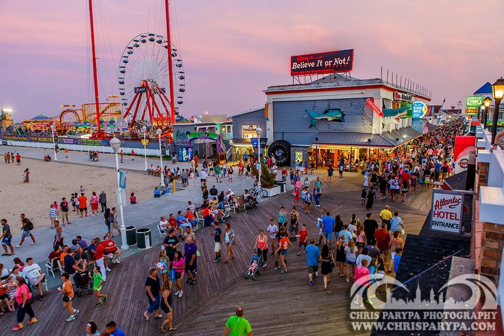 Twilight On The Ocean City Boardwalk Chris Parypa Photography