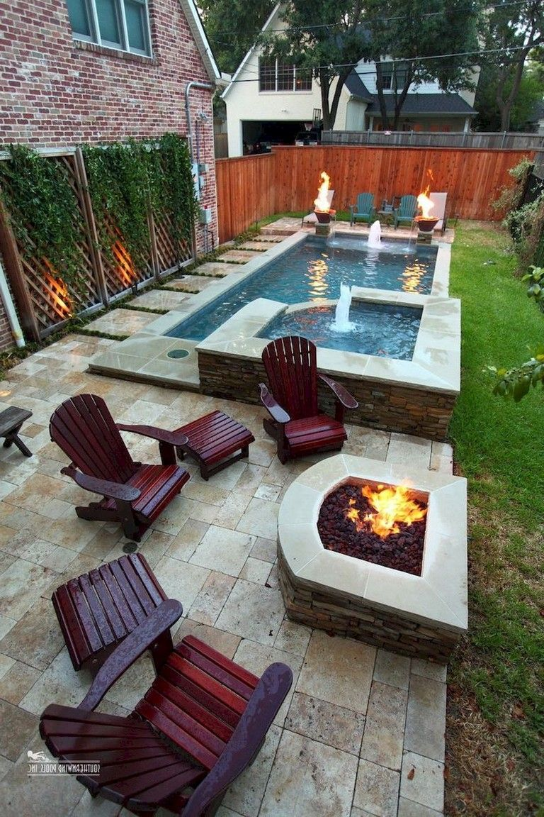 56 Little Backyard Landscaping Ideas On A Budget Backyard Seating Swimming Pools Backyard Backyard Patio Designs