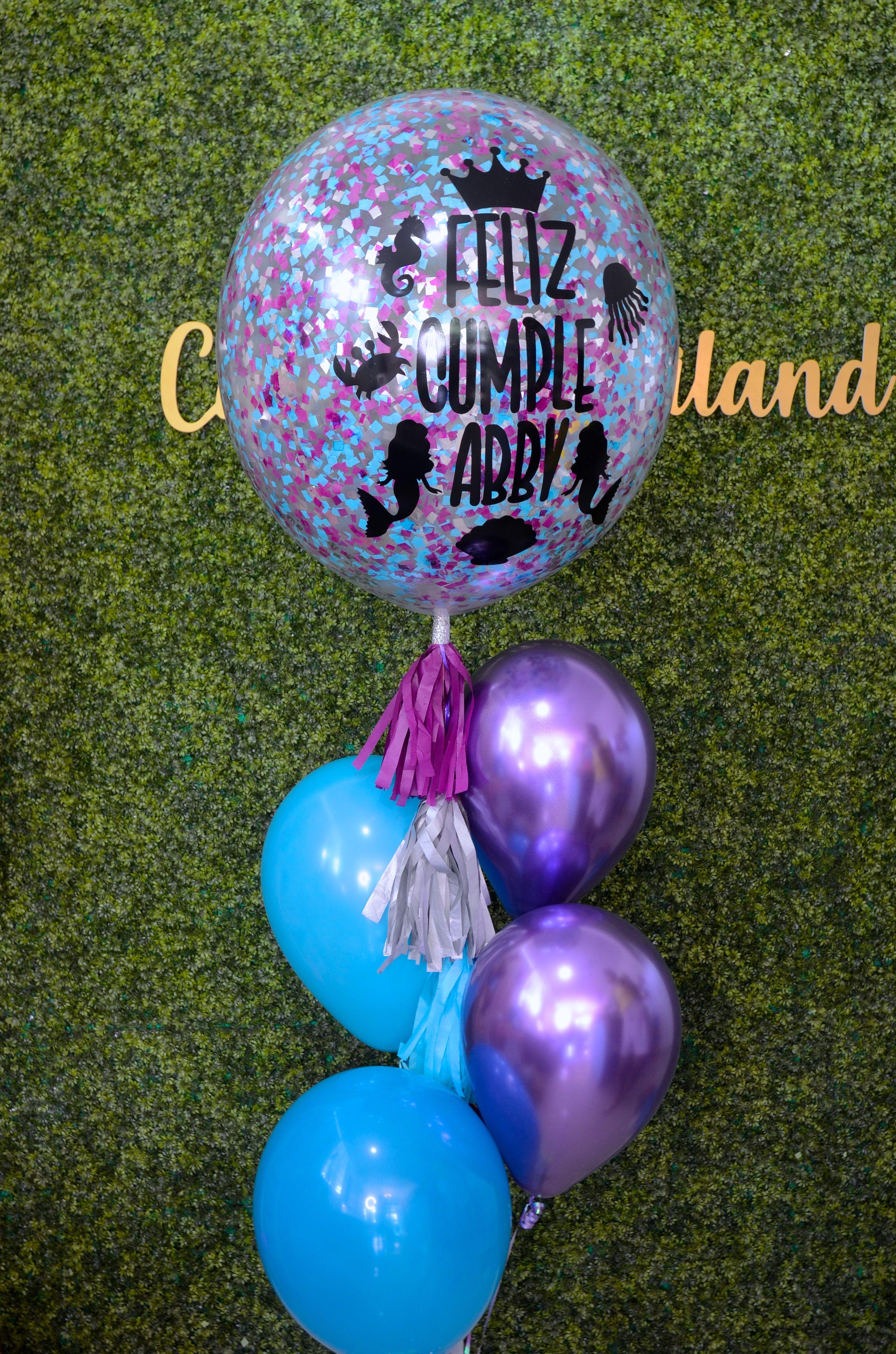 Globo Burbuja Sirenita Mermaid Balloons Christmas Bulbs Balloons