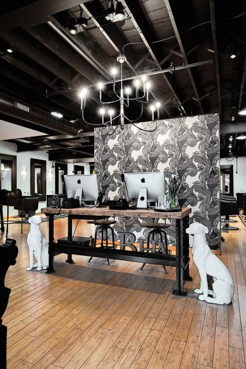 When Lisa Williams Named Her Salon She Was Inspired By The English Tradition Of Bespoke Tail Hair Salon Interior Salon Interior Design Beauty Salon Interior