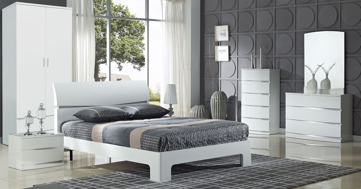 Bedroom Ideas With White Furniture, Modern White Gloss Bedroom Furniture Uk