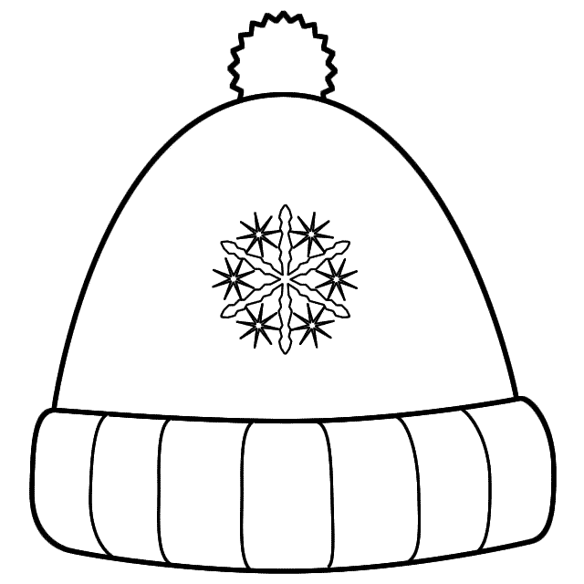 Winter Hat With Snowflakes Coloring Page Clothing Coloring Pages Winter Snowflake Coloring Pages Coloring Pages