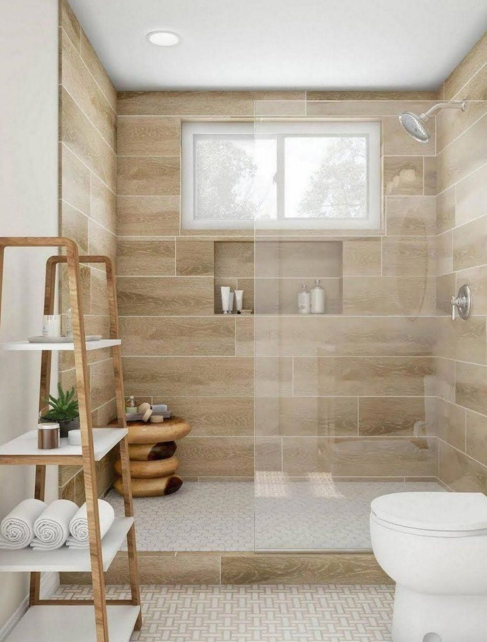 Shop Our Bathroom Department To Customize Your Warm Toned Walk In Spa Shower Today At The Home De In 2020 Badezimmer Renovieren Kleines Bad Mit Dusche Luxusbadezimmer