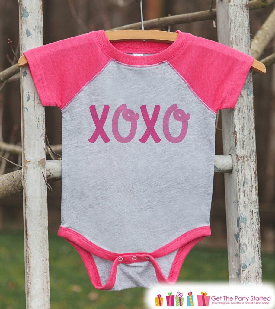 Valentines Outfit - XOXO Valentine\'s Day Shirt or Onepiece - Kids ...