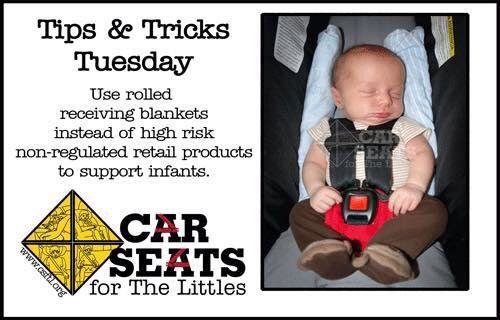Rolled Receiving Blankets for Head Support | Car Seat Safety Info ...