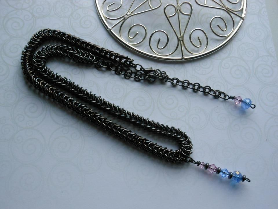 Box weave necklace.  SOLD.    Orders can be Taken