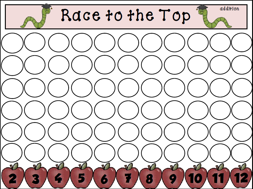 Race to the Top - Addition Game Freebie (Teacher\'s Take-Out) | Kind