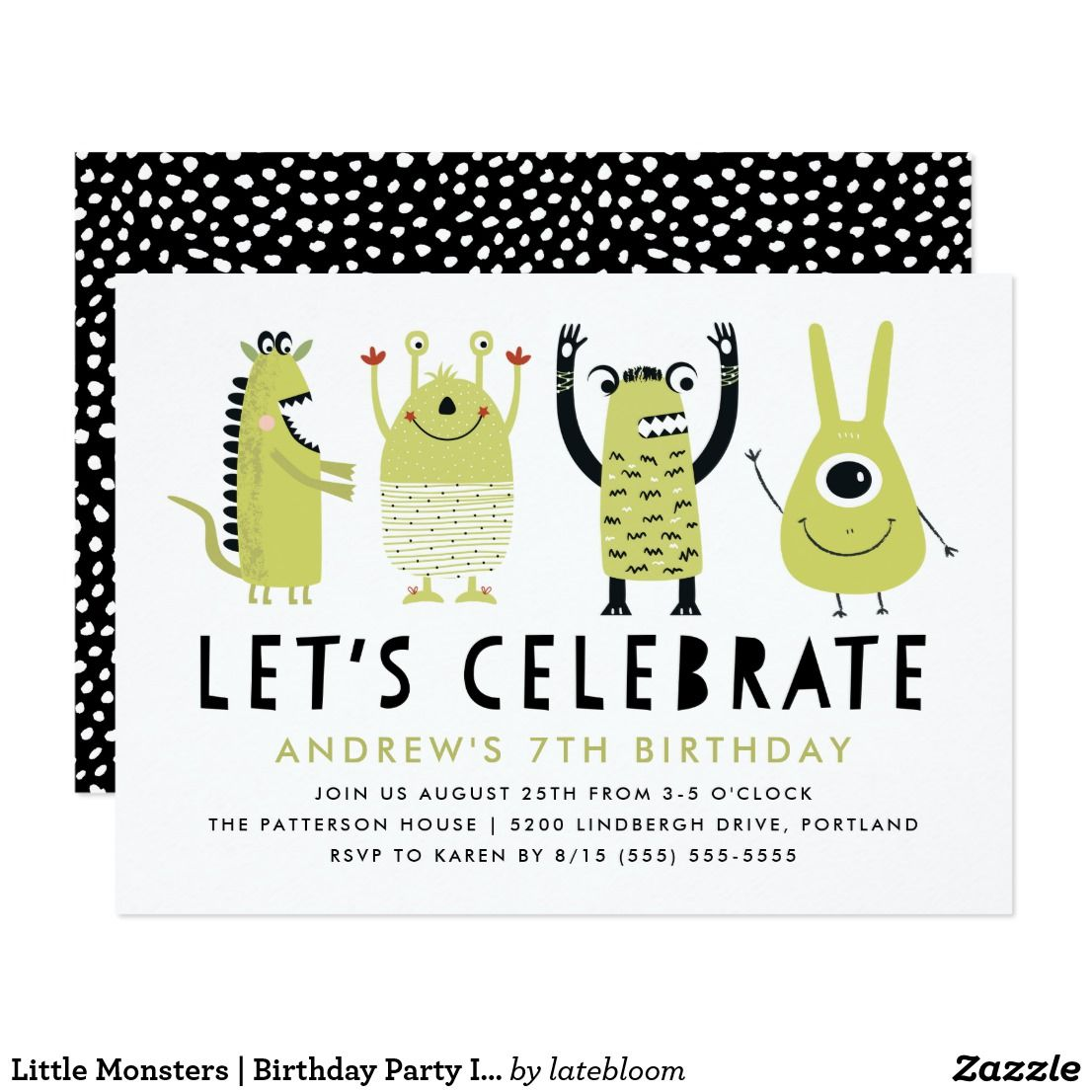 Little Monsters | Birthday Party Invitation | { Happy Birthday ...