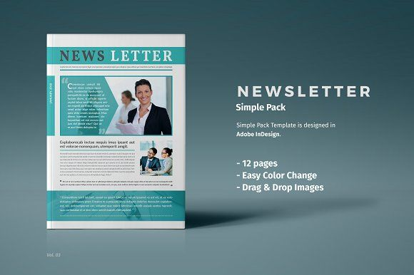 Newsletter Template By Themedevisers On Graphicsauthor