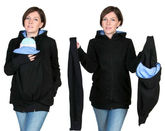 LUNA 3 en 1 llevar a tu bebé maternidad embarazo multifuncional canguro  Sudadera chaqueta de la chaqueta para mamá y bebé 76401dffb9bd