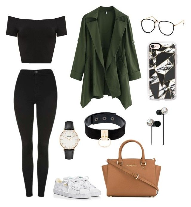 """""""polyvore"""" by jesy-smith on Polyvore featuring mode, Topshop, Alice + Olivia, Puma, MICHAEL Michael Kors, CLUSE, Manokhi et Casetify"""