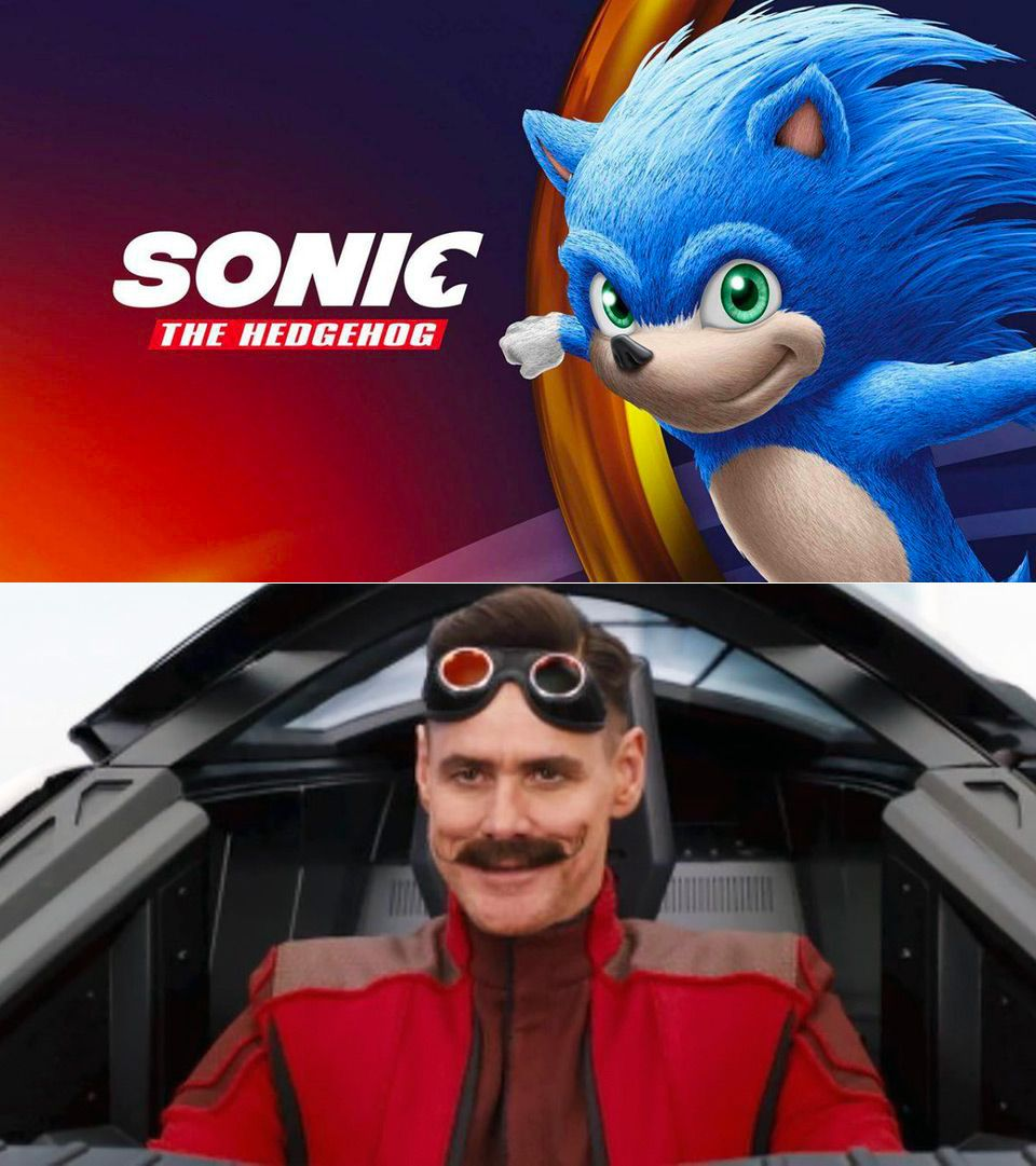 First Look At Jim Carrey As Dr Robotnik In The Live Action Sonic Movie Sonic Sonic The Movie Sonic The Hedgehog
