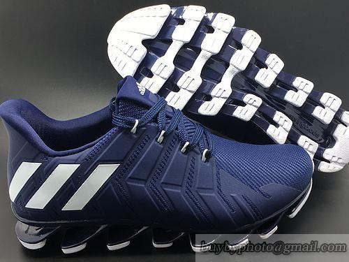 2016 New hombre  Adidas springblade VII marino corriendo zapatos 9 Azul marino VII blanco 25e546
