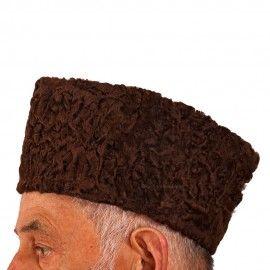 Chocolate Brown Karakul Cap  53af7702cce