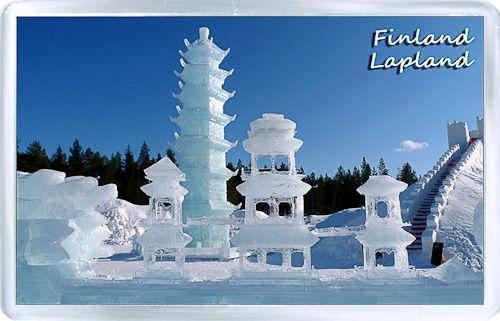 $3.29 - Acrylic Fridge Magnet: Finland. Lapland. Ice Sculpture