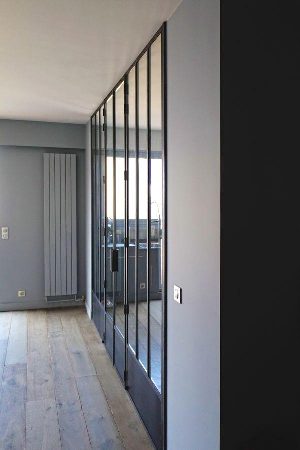 fen tre d 39 atelier avec double porte int gr e fen tres d 39 atelier pinterest. Black Bedroom Furniture Sets. Home Design Ideas