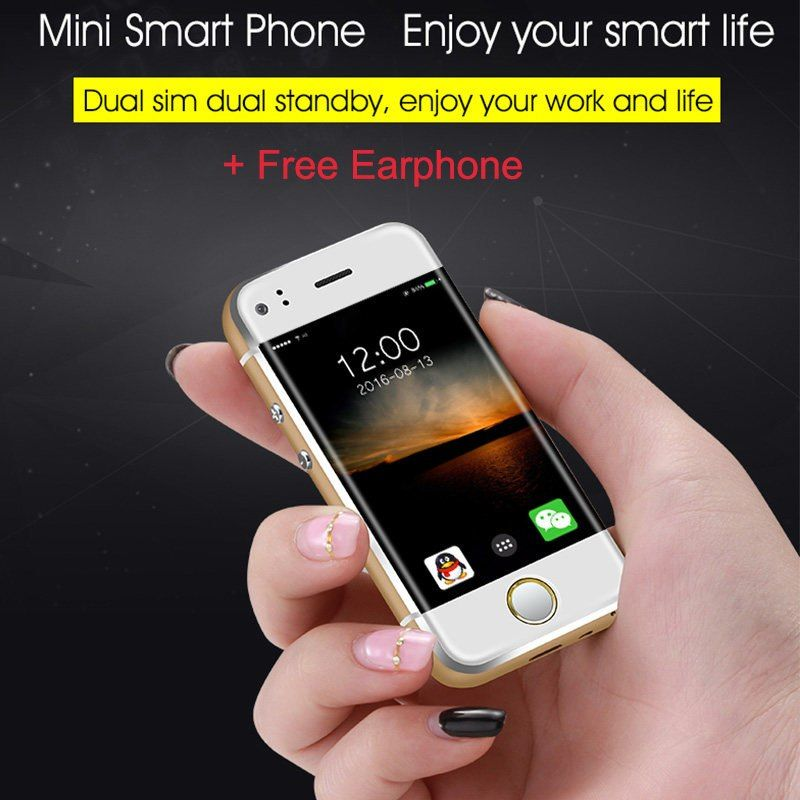 Small Mini Student Android Smart Slim Mobile Phone Mtk6572 Dual