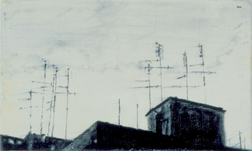 Antenne #10 2002 oil on canvas cm. 15x25